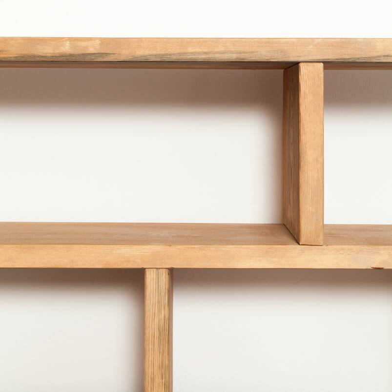 Shelf made from recycled timber