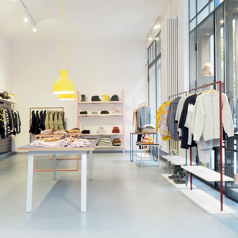 Furniture Design Collaboration for Walking the Cat kids fashion Concept-Store in Berlin
