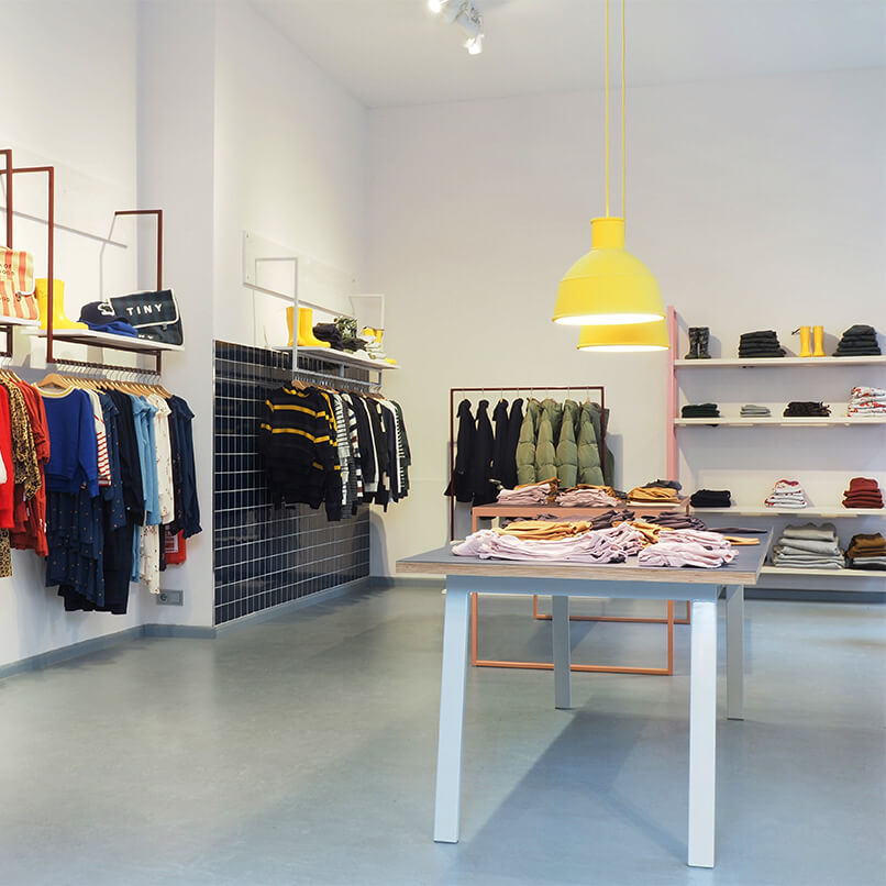 Walking The Cat is a concept store for children's fashion. Storedesign by JOHANENLIES